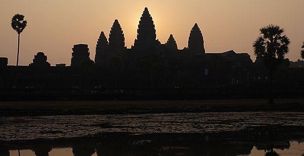 Temples d'angkor levé du soleil