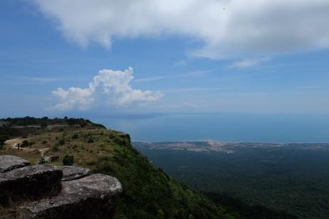 vue de la montagne de bokor