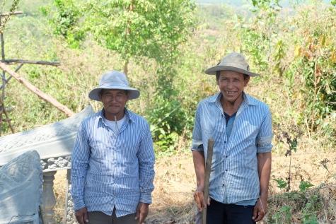 paysans dans la région de Kampot