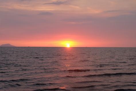coucher de soleil Kep